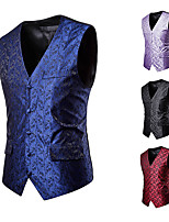 cheap -Plague Doctor Victorian Steampunk Waistcoat Paisley Coletes Men's Cotton Costume Black / Purple / Red Vintage Cosplay Party Halloween / Vest