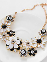 cheap -Women's Choker Necklace Collar Necklace Floral Flower Precious Unique Design Fashion Zircon Resin Chrome Black Rose Red 55 cm Necklace Jewelry 1pc For Street Holiday Festival