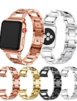 cheap -Diamond Jewelry Stainless Steel Watch Band For Apple Watch Series 5/4/3/2/1 Replaceable Bracelet Wrist Strap Wristband 38/40mm 42/44mm