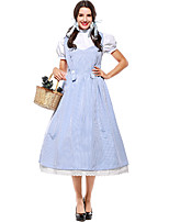 cheap -Dorothy Dress Masquerade Women's Movie Cosplay Cosplay Halloween Blue Hair Jewelry Dress Halloween Carnival Masquerade Cotton