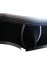 cheap -Men's Basic Boxers Underwear - Normal Low Waist Black White Army Green M L XL