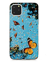 cheap -Case For Apple iPhone 11 / iPhone 11 Pro / iPhone 11 Pro Max Ultra-thin Back Cover Butterfly TPU For iPhone XS Max/XS/XR/X/7/8 Plus/6s Plus/5/5s/SE