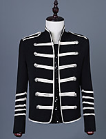 cheap -Prince Victorian Steampunk Napoleon Jacket Winter Suits & Blazers Men's Costume Black Vintage Cosplay Party Halloween Long Sleeve / Coat