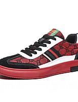 abordables -Homme Chaussures de confort Daim / Toile Printemps / Automne hiver Simple / Britanique Basket Marche Ne glisse pas Noir / Rouge / Kaki