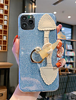 cheap -Case For Apple iPhone 11 / iPhone 11 Pro / iPhone 11 Pro Max Glitter Shine Back Cover Solid Colored TPU for iPhone 6  6 Plus  6s 6s plus 7 8 7 plus 8 plus X XS XR XS MAX