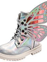 cheap -Girls' Combat Boots PU Boots Little Kids(4-7ys) / Big Kids(7years +) Black / Silver / Pink Fall / Winter