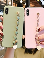 cheap -Apple For iPhone11Pro Max Love Bracelet Mobile Shell XS Max Silicone Soft 6/7 / 8P All Inclusive Soft Shell Simple Cover