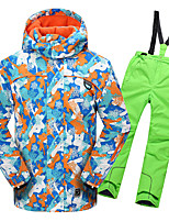 cheap -Phibee Boys' Girls' Ski Jacket with Pants Skiing Camping / Hiking Winter Sports Windproof Warm Winter Sports Polyester Warm Top Warm Pants Clothing Suit Ski Wear