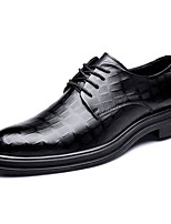 cheap -Men's Formal Shoes Synthetics Spring / Fall & Winter Casual / British Oxfords Non-slipping Black / Party & Evening