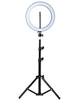Недорогие -Светодиодный светильник tycipy 2700k-5500k 24w фотостудия 12 светосъемное затемняемое видео для смартфона с держателем для штатива