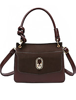 cheap -Women's Zipper / Chain PU Top Handle Bag Lattice Black / Brown / Wine