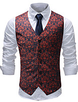 cheap -Plague Doctor Victorian Steampunk Waistcoat Paisley Coletes Men's Cotton Costume Red Vintage Cosplay Party Halloween / Vest