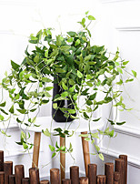 cheap -Artificial Plants Imitation Honeysuckle Leaves Wall Hanging Rattan Artificial Flowers Fake Plastic Leaf