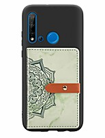 cheap -Case For Huawei Huawei P20 / Huawei P20 Pro / Huawei P20 lite Card Holder / with Stand / Ultra-thin Back Cover Marble PU Leather / TPU