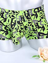 cheap -Men's Basic Boxers Underwear - Normal Low Waist Black Light Blue White M L XL