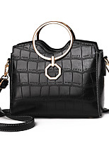 cheap -Women's Rivet Faux Leather / PU Top Handle Bag Solid Color Black / Wine / Blushing Pink