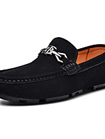 cheap -Men's Dress Shoes Cowhide Spring & Summer / Fall & Winter Casual / British Loafers & Slip-Ons Non-slipping Black / Blue / Coffee