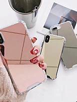 cheap -Case For Apple iPhone 11 / iPhone 11 Pro / iPhone 11 Pro Max Mirror Back Cover Solid Colored TPU / Acrylic