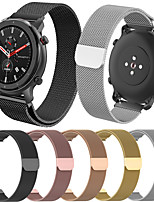 abordables -smartwatch band pour huami amazfit gtr 42mm / bip younth watch / amazfit bip / bip lite amazfit sport band haut de gamme mode milanese loop acier inoxydable 20mm
