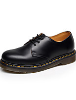 cheap -Men's Fashion Boots Cowhide Fall & Winter Classic Oxfords Breathable Black / Dark Red