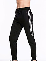 cheap -Men's Running Pants Track Pants Sports Pants Side-Stripe Sports Pants / Trousers Running Fitness Jogging Breathable Quick Dry Soft Solid Color Black Black / White Gray / Micro-elastic