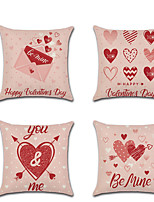 cheap -1pcs Valentine'S Day Pillowcase Lovers Romantic Love Linen Digital Printin