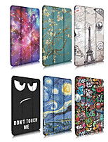 cheap -Case For Apple iPad 4/3/2 / iPad Mini 4 / iPad Pro 11'' Origami Full Body Cases Scenery / Cartoon PU Leather