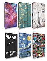 cheap -Case For Apple iPad 4/3/2 / iPad Mini 4 / iPad Pro 11'' Origami Full Body Cases Scenery / Cartoon PU Leather