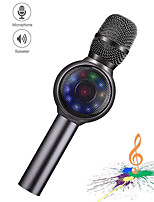 cheap -Wireless Bluetooth Karaoke Microphone 3-in-1 portable handheld karaoke mic karaoke player multi-function LED light