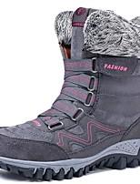 cheap -Women's Boots Flat Heel Round Toe PU Mid-Calf Boots Winter Black / Purple / Burgundy