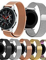 abordables -Smartwatch Band pour Samsung Galaxy 46 / Gear S3 / S3 Classic / S3 Frontier / Gear 2 R380 / 2 Neo R381 / Sport Band High-End Fashion Milanese Loop Acier inoxydable 22mm