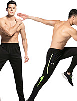 cheap -Men's Running Pants Track Pants Sports Pants Sports Pants / Trousers Running Jogging Training Breathable Quick Dry Soft Color Block Black Black / Red Green Black / Green Black+Gray Gray