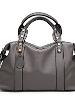 cheap -Women's Polyester / PU Top Handle Bag Solid Color Black / Blue / Red