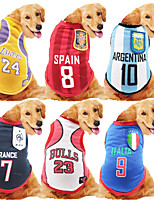 cheap -Dog Cat Vest Dog Clothes Stripe Purple Green Costume Husky Labrador Alaskan Malamute Polyester Cotton Stylish XXXL XXXXL XXXXXL XXXXXXL 7XL 8XL