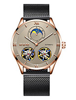 cheap -Men's Mechanical Watch Automatic self-winding Sporty Stainless Steel Black / Silver 30 m Water Resistant / Waterproof Calendar / date / day Noctilucent Analog Outdoor - Black Black / Rose Gold White
