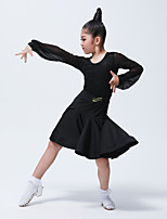 cheap -Latin Dance Outfits Women's Training / Performance Elastane / Lace Split Joint Long Sleeve Skirts / Top