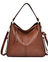 cheap -Women's Zipper Faux Leather / PU Top Handle Bag Solid Color Black / Brown / Red
