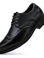 cheap -Men's Leather Shoes Nappa Leather Spring / Fall & Winter Casual / British Oxfords Non-slipping Black / Party & Evening