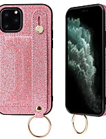 cheap -Case For Apple iPhone 11 / iPhone 11 Pro / iPhone 11 Pro Max Card Holder / Rhinestone / Armband Back Cover Solid Colored PU Leather