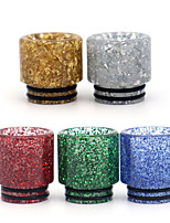 cheap -YUHETEC 810 Pearl Sequins Resin Drip Tip for TFV8 Big Baby/TFV12 Prince/Griffin 25/ijust 3/ELLO Duro/Pharaoh Mini/ammit 25/Creed RTA Atomizer 1PC