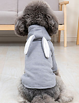 cheap -Dog Hoodie Rabbit Winter Dog Clothes Pink Gray Costume Corduroy Rabbit / Bunny Cosplay XS S M L XL XXL