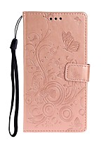 cheap -Case For Samsung Galaxy S10 / Galaxy S10 Plus / Galaxy S10 E Wallet / Card Holder / with Stand Full Body Cases Butterfly / Solid Colored PU Leather For Galaxy S11/S11E/S11 Plus/A10S/A20S/A20E/A51/A71