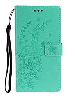 cheap -Case For Samsung Galaxy Galaxy S10 / Galaxy S10 Plus / Galaxy S10 E Wallet / Card Holder / with Stand Full Body Cases Solid Colored / Flower PU Leather
