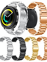 cheap -Smartwatch Band for Samsung Gear Sport / S2 / S2 Classic Galaxy 42 / Active /Active2 Classic Buckle Stainless Steel Band Wrist Strap 20mm