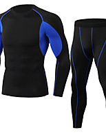 cheap -JACK CORDEE Men's Long Sleeve Cycling Base Layer Compression Suit Winter Polyster Polyester Taffeta Black Green Red Bike Clothing Suit Mountain Bike MTB Road Bike Cycling Thermal / Warm Quick Dry
