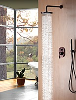cheap -Shower Faucet - Contemporary / Antique Oil-rubbed Bronze Wall Mounted Ceramic Valve Bath Shower Mixer Taps