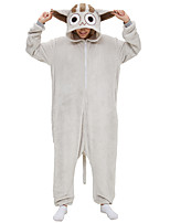 abordables -Adulte Pyjamas Kigurumi Chat Combinaison de Pyjamas Molleton Blanche Cosplay Pour Homme et Femme Pyjamas Animale Dessin animé Fête / Célébration Les costumes / Collant / Combinaison