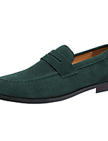 cheap -Men's Formal Shoes Faux Leather Spring & Summer / Fall & Winter Casual / Chinoiserie Loafers & Slip-Ons Breathable Black / Brown / Green / Party & Evening