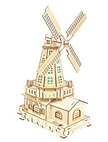 cheap -3D Puzzle Wooden Puzzle Windmill Simulation Hand-made Wooden 132 pcs Kid's Adults' All Toy Gift