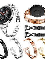 cheap -Smartwatch Band for Samsung Gear S3 /S3 classic /S3 Frontier / Gear 2 R380/ 2 Neo R381/Galaxy 46 sport Band  High-end Fashion Jewelry Design Stainless Steel Wrist Strap22mm